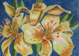 lilies painting