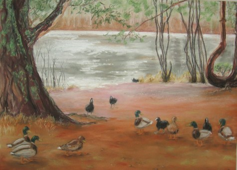 ducks painting