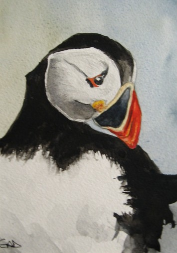 puffin painting