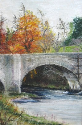 Old Spey Bridge painting