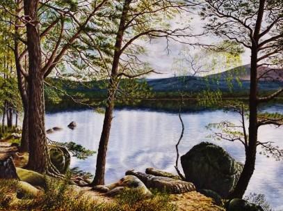 Loch Garten painting
