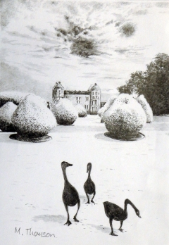 painting geese