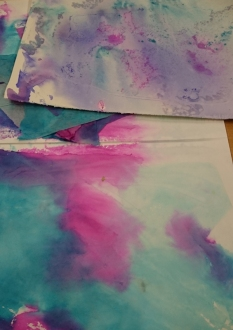 sheets of watercolour paintings