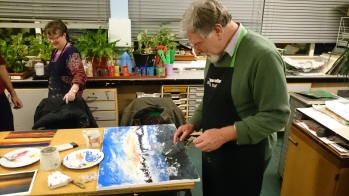 Finger painting lesson