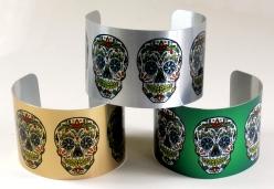 Sublimation printect bracelet skulls
