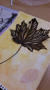 leaves cutout
