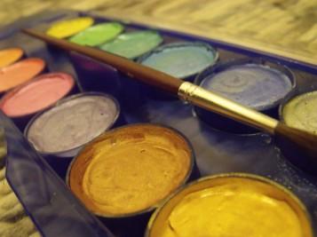 watercolours paints art