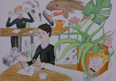 narrative painting art room aloe