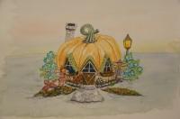 Pumpkin House watercolour