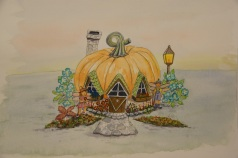 Pumpkin House watercolour