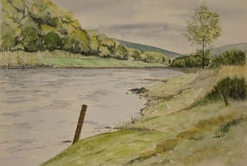 Tulchan A Beat River Spey watercolour