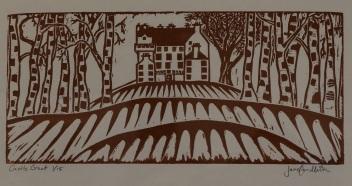 Castle Grant linocut