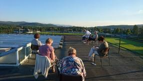 Art group on the roof