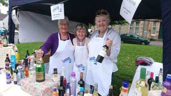 Norma, Ali and Rona on the stall