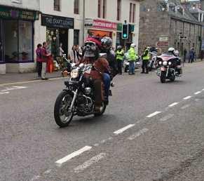 Harley Davidson rideout Grantown