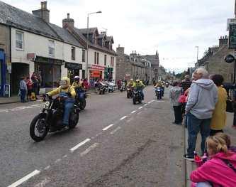 Minions Harley Davidson rideout Grantown