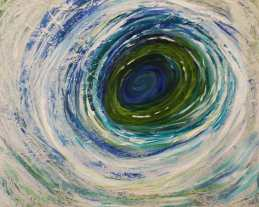 Maelstrom, Mary Hill, painting, eye of the storm