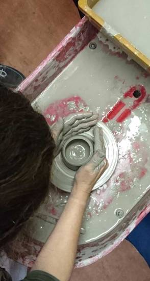 pottery clay hands