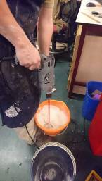 plaster mixing