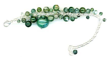 Malachite bead bracelet