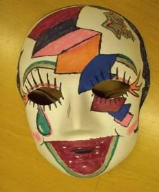 Sad clown mask
