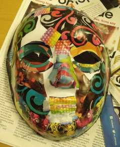 Mask collage using magazine