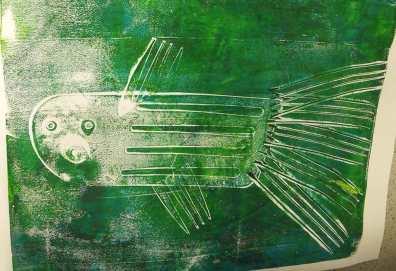 green fish print