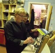 Women airbrushing