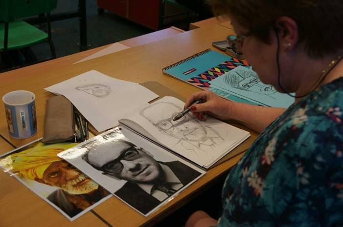 Elvis Costello portrait